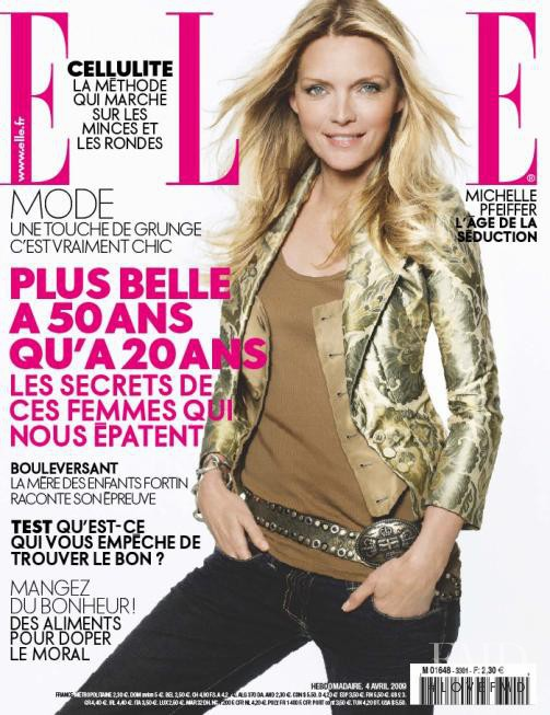 Michelle Pfeiffer featured on the Elle France cover from April 2009