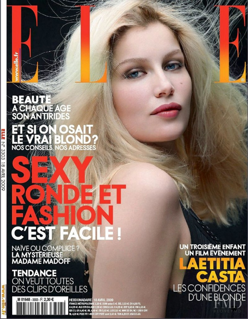 Laetitia Casta featured on the Elle France cover from April 2009