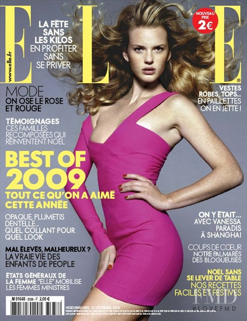Anne Vyalitsyna featured on the Elle France cover from December 2009