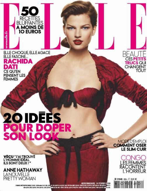 featured on the Elle France cover from February 2009