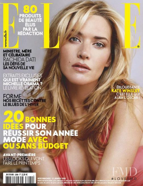 Kate Winslet featured on the Elle France cover from January 2009