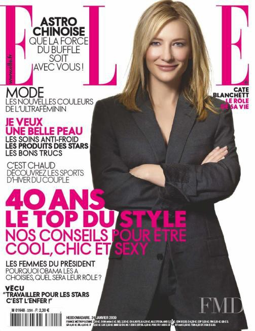 Cate Blanchett featured on the Elle France cover from January 2009