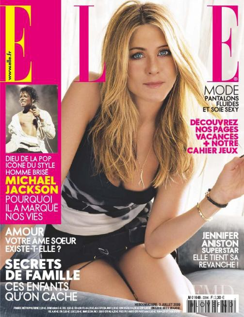 Jennifer Aniston featured on the Elle France cover from July 2009