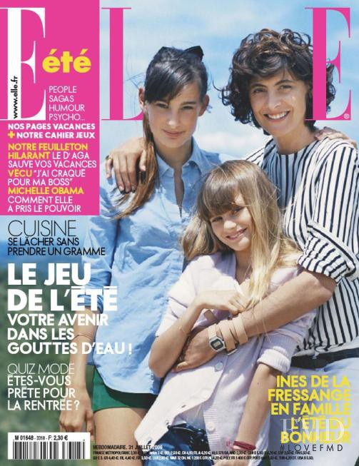 Ines de la Fressange, Nine d\'Urso featured on the Elle France cover from July 2009