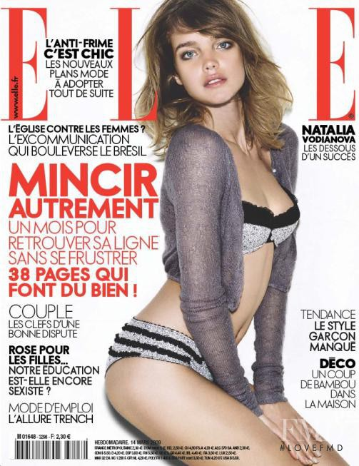 Natalia Vodianova featured on the Elle France cover from March 2009