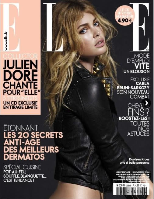 Doutzen Kroes featured on the Elle France cover from November 2009