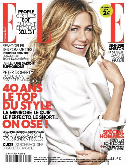 Jennifer Aniston featured on the Elle France cover from October 2009