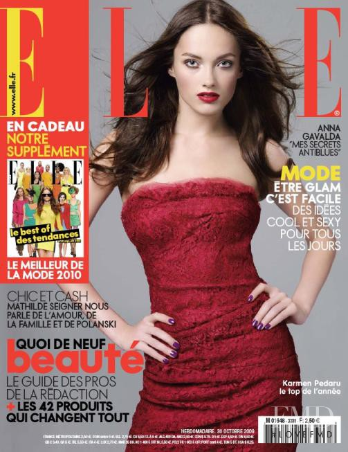 Karmen Pedaru featured on the Elle France cover from October 2009