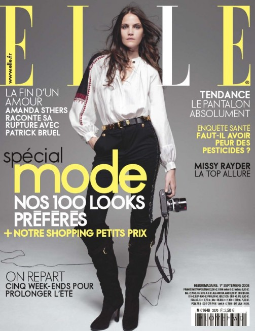 Missy Rayder featured on the Elle France cover from September 2009