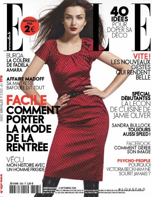 Andreea Diaconu featured on the Elle France cover from September 2009