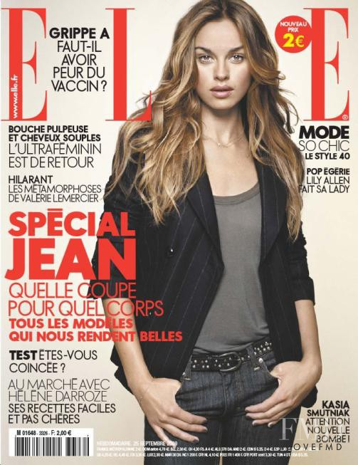 Kasia Smutniak featured on the Elle France cover from September 2009