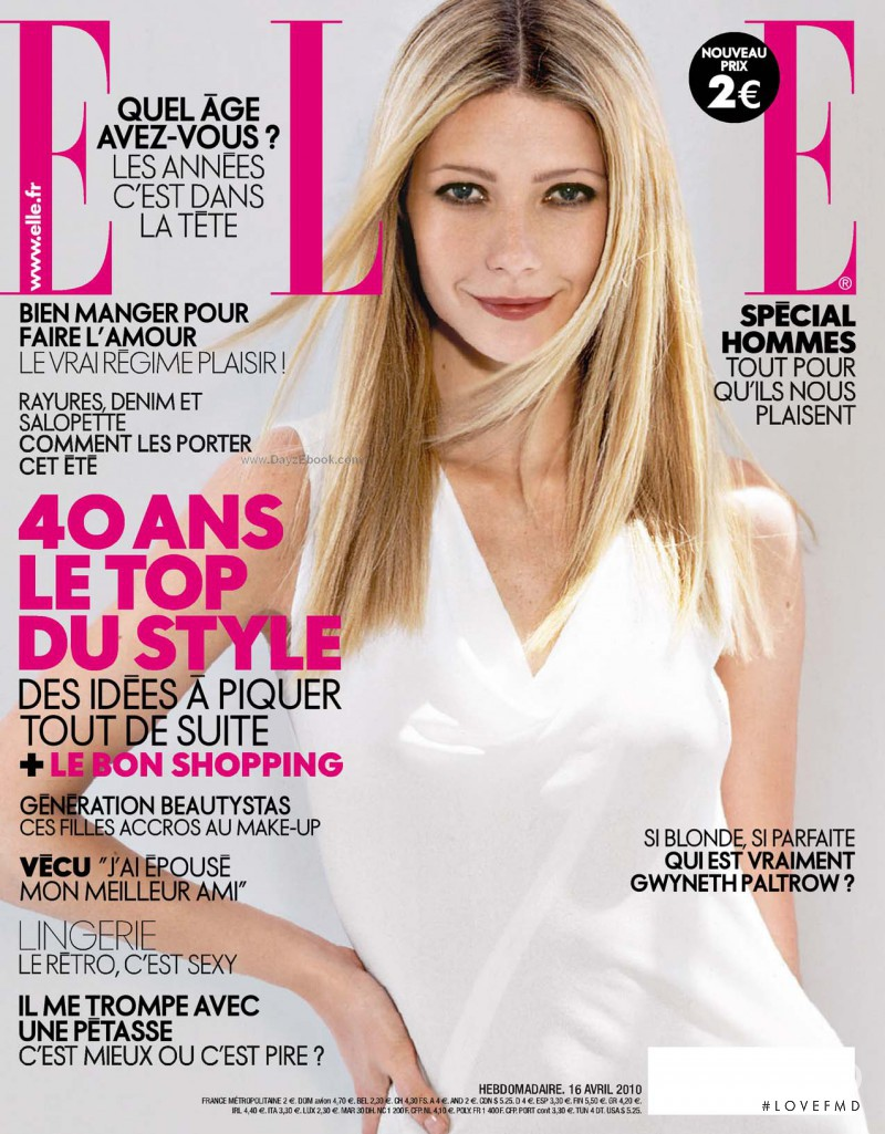 Gwyneth Paltrow featured on the Elle France cover from April 2010
