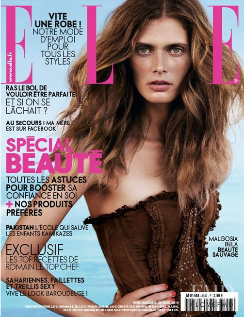 Malgosia Bela featured on the Elle France cover from April 2010
