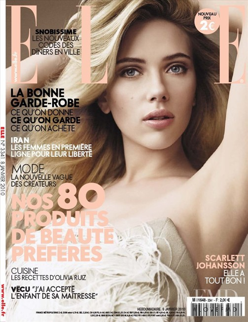 Scarlett Johansson featured on the Elle France cover from January 2010