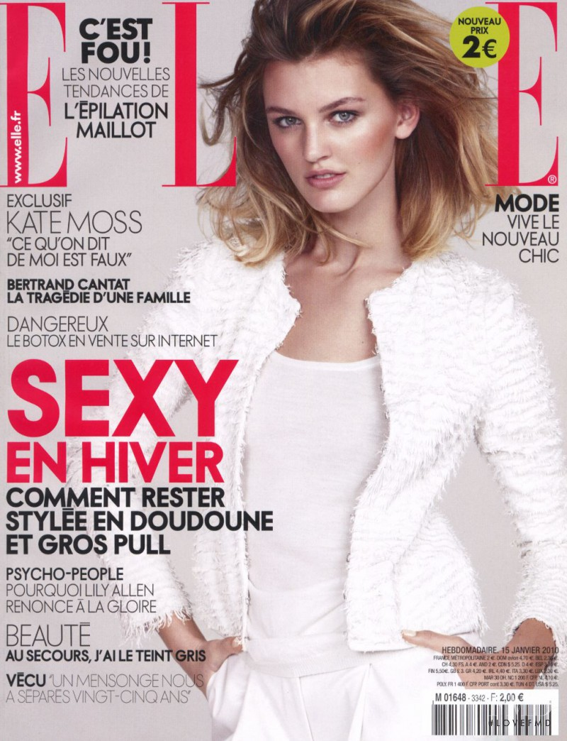 Ali Stephens featured on the Elle France cover from January 2010