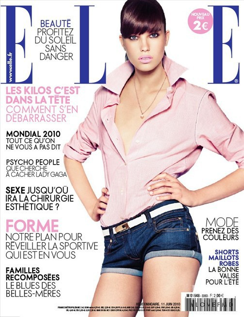 Nicole Hofman featured on the Elle France cover from June 2010