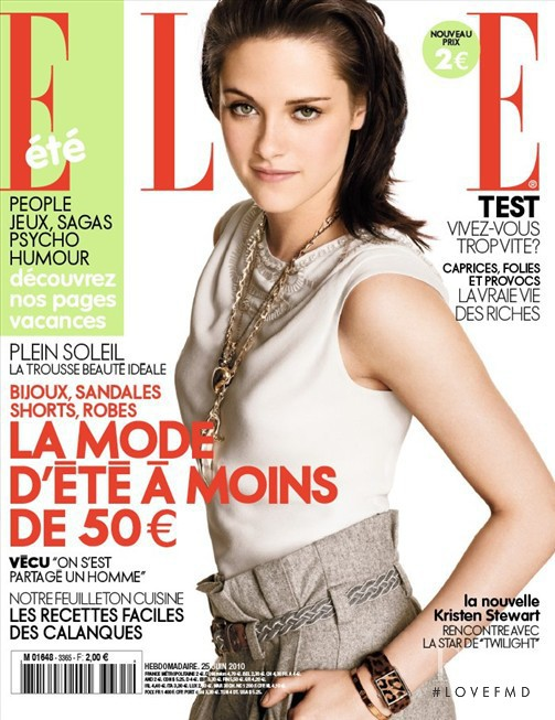 Kristen Stewart featured on the Elle France cover from June 2010