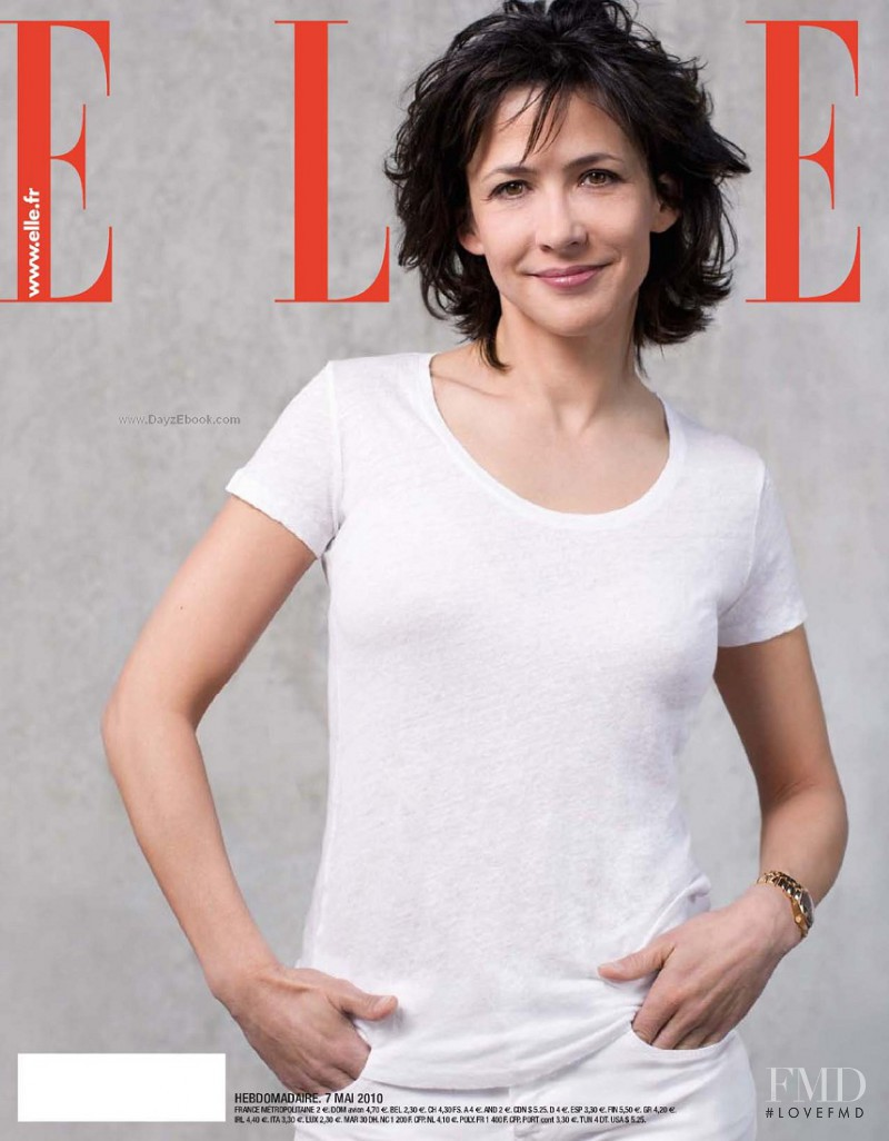 Sophie Marceau featured on the Elle France cover from May 2010