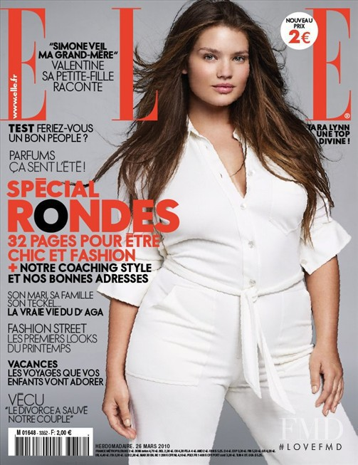 Tara Lynn featured on the Elle France cover from May 2010