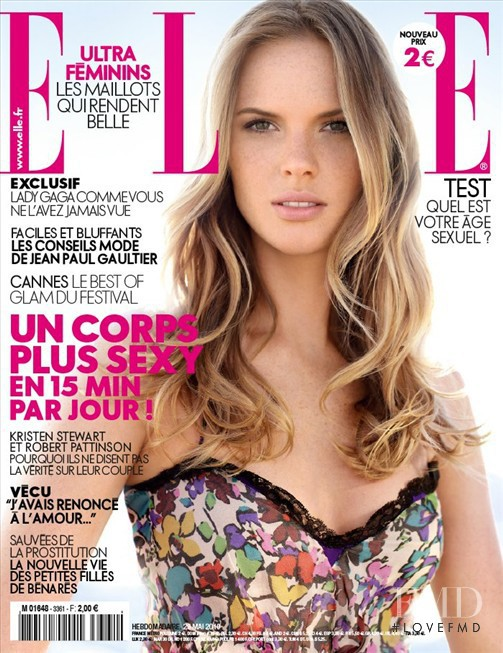 Anne Vyalitsyna featured on the Elle France cover from May 2010