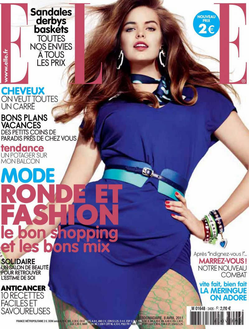 Robyn Lawley featured on the Elle France cover from April 2011