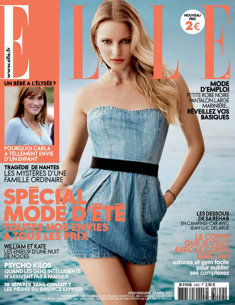 Ieva Laguna featured on the Elle France cover from April 2011