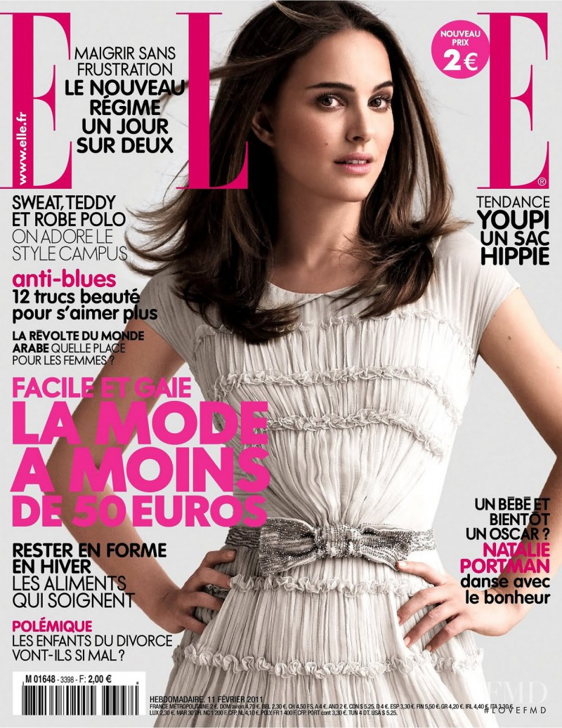 Natalie Portman featured on the Elle France cover from February 2011