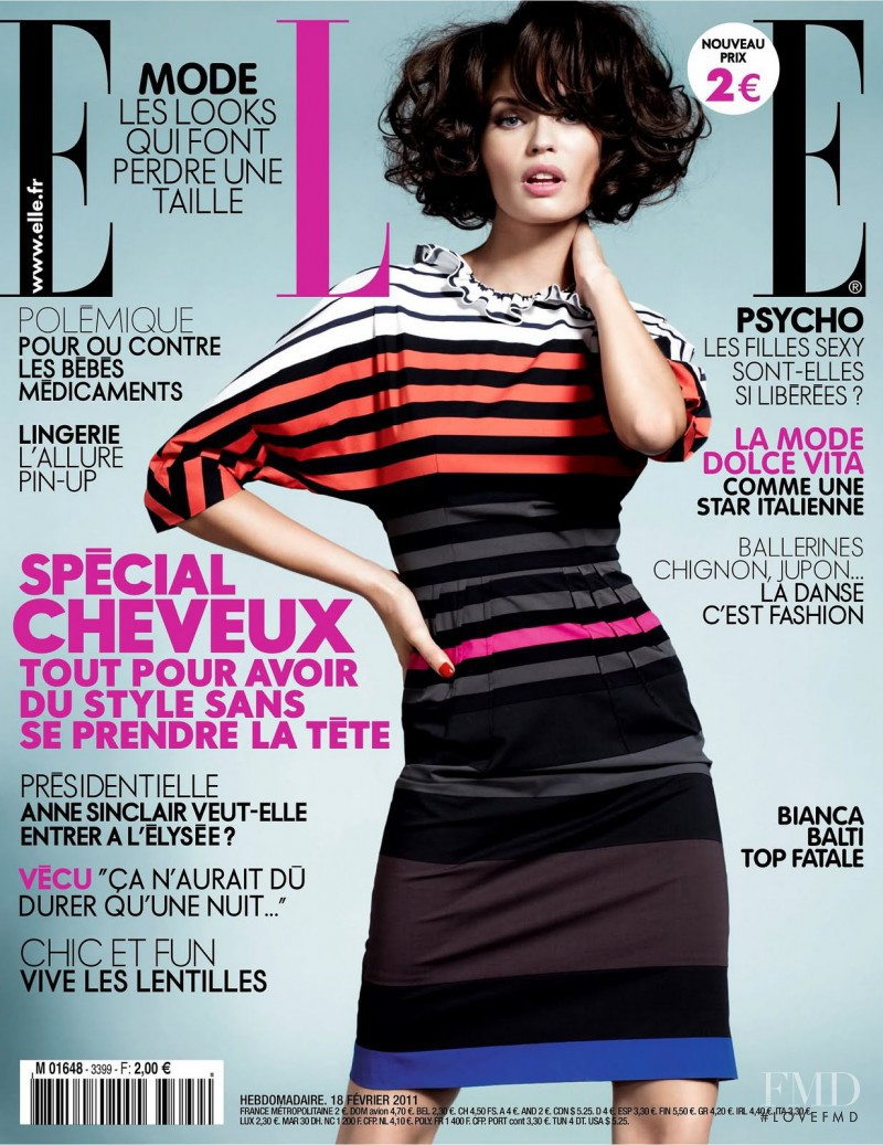 Bianca Balti featured on the Elle France cover from February 2011