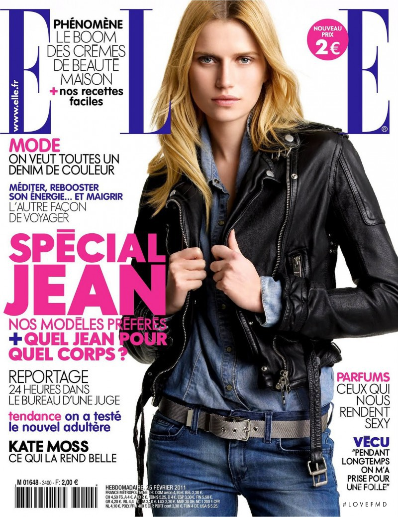 Cato van Ee featured on the Elle France cover from February 2011