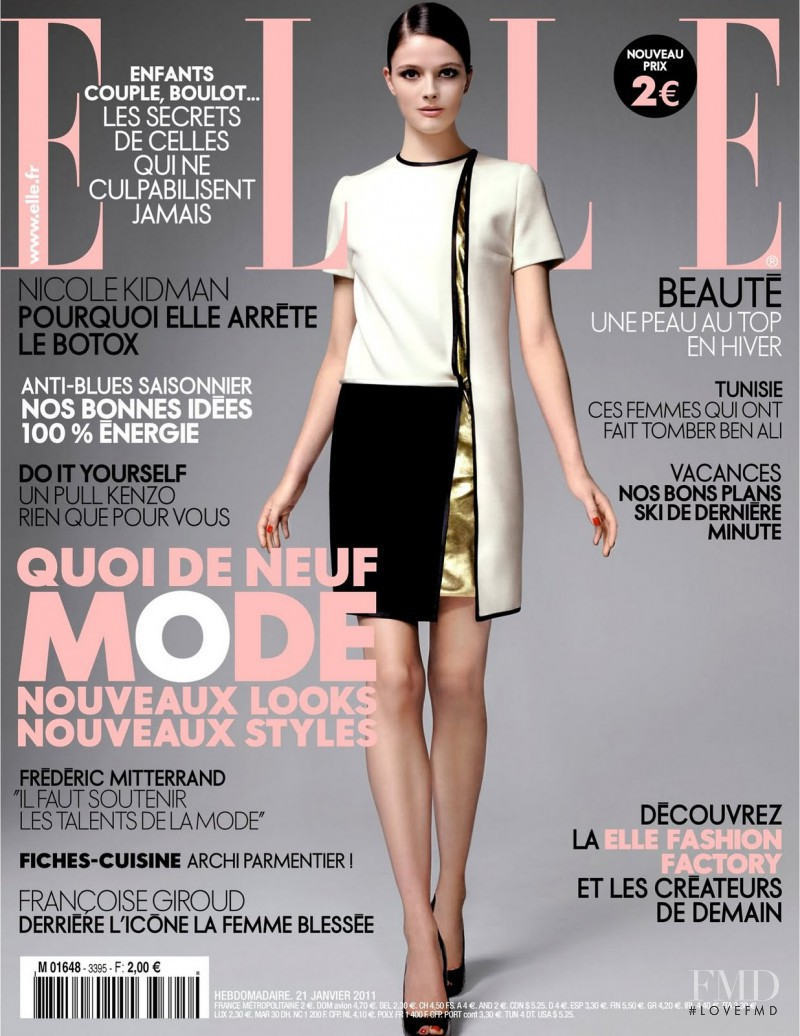 Addison Gill featured on the Elle France cover from January 2011