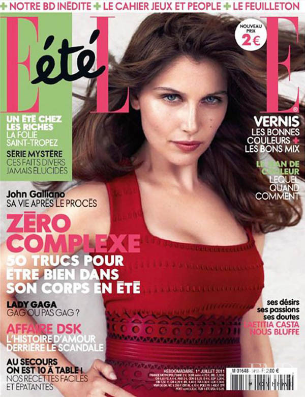 Laetitia Casta featured on the Elle France cover from July 2011