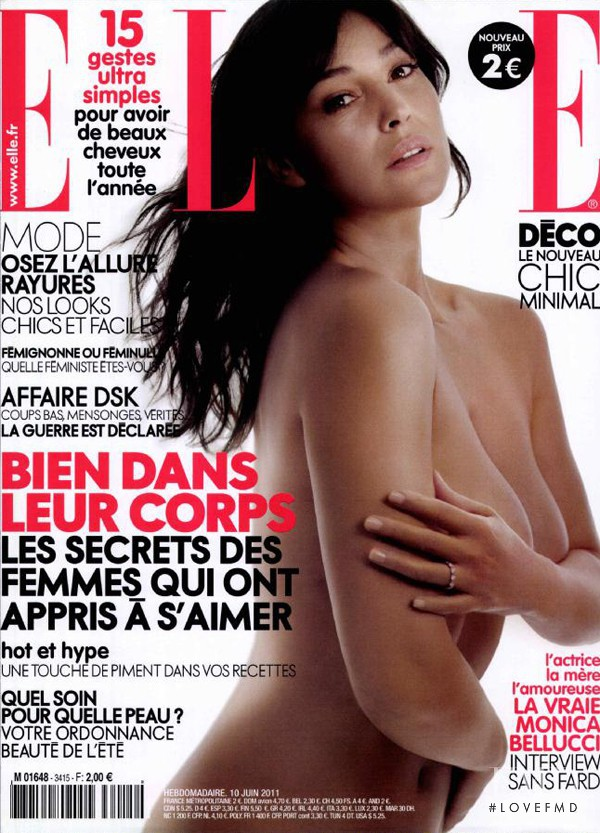 Monica Bellucci featured on the Elle France cover from June 2011