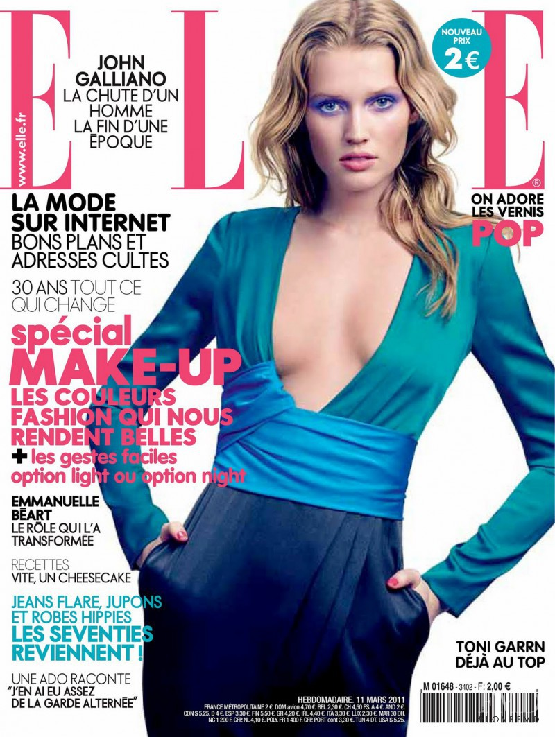 Toni Garrn featured on the Elle France cover from March 2011