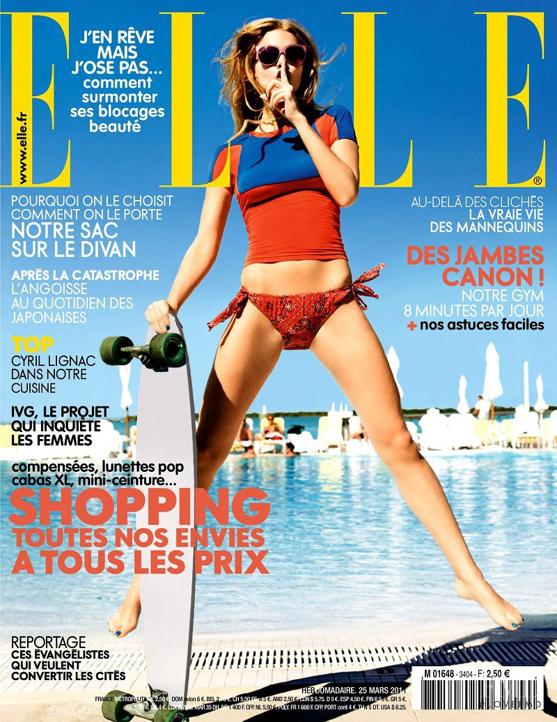 Marloes Horst featured on the Elle France cover from March 2011