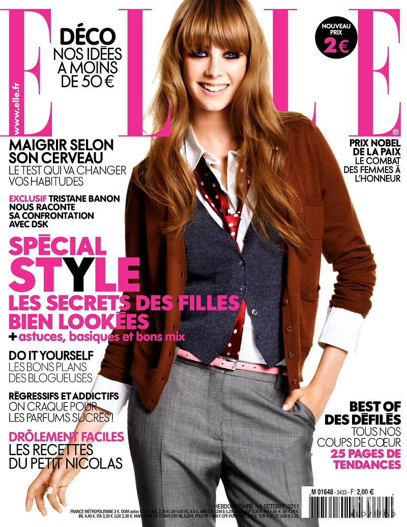 Edie Campbell featured on the Elle France cover from October 2011