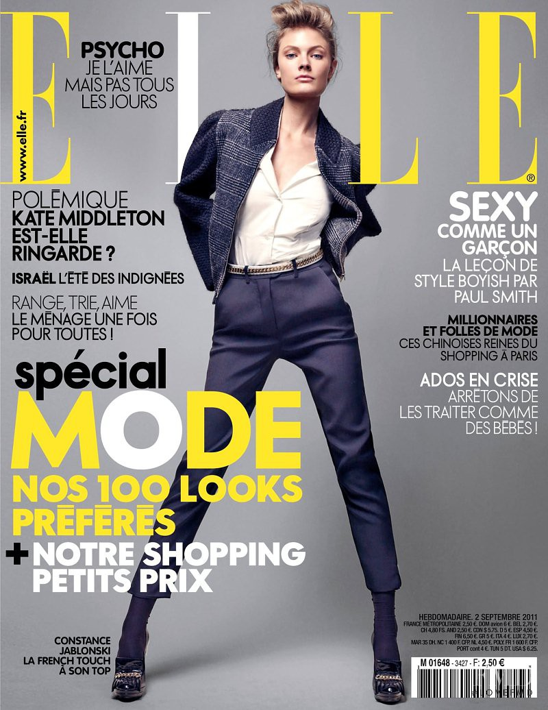 Constance Jablonski featured on the Elle France cover from September 2011