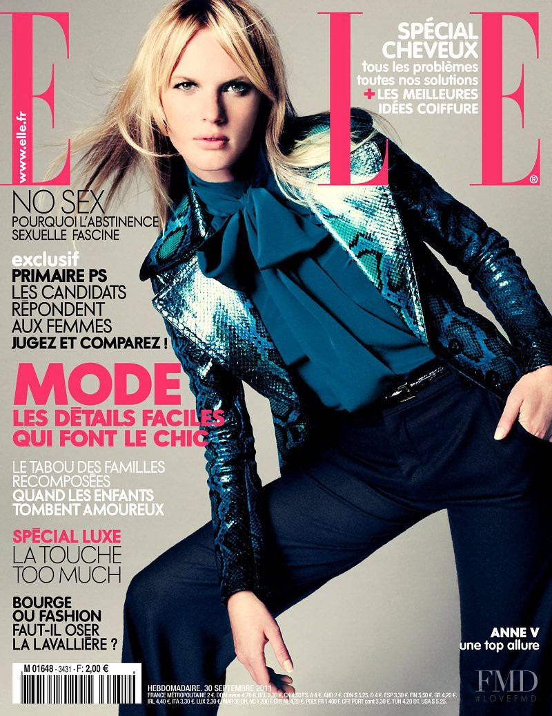 Anne Vyalitsyna featured on the Elle France cover from September 2011
