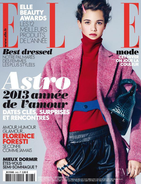 Pauline Hoarau featured on the Elle France cover from December 2012