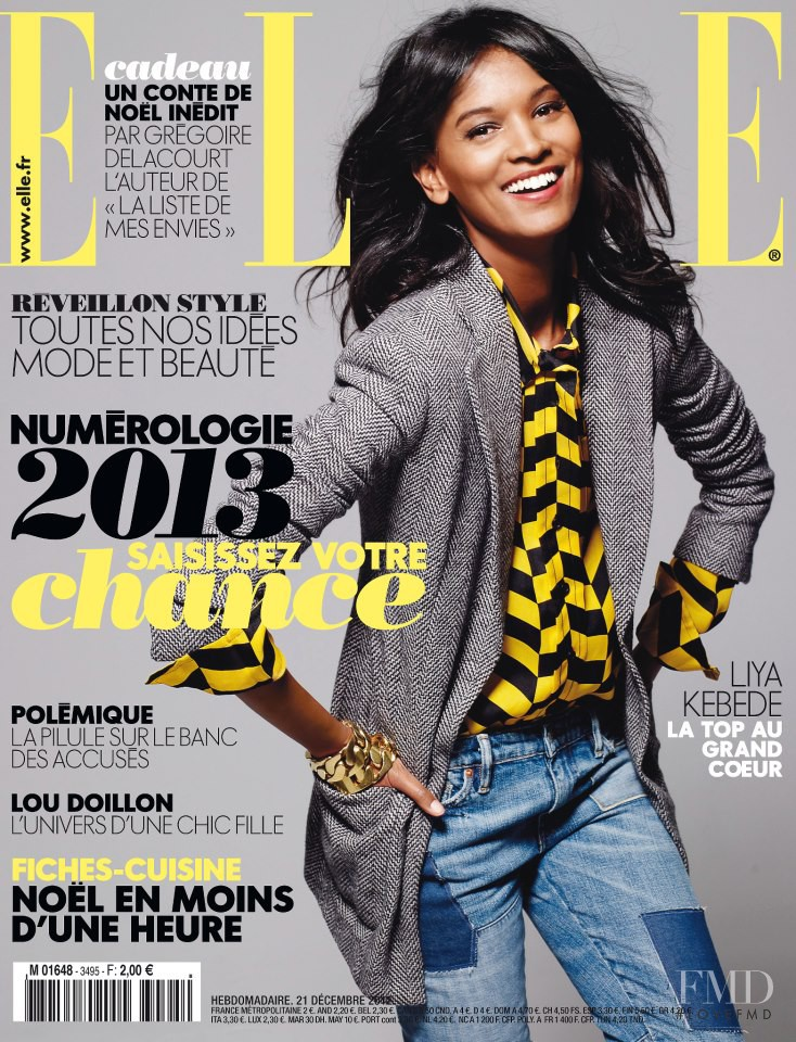 Liya Kebede featured on the Elle France cover from December 2012