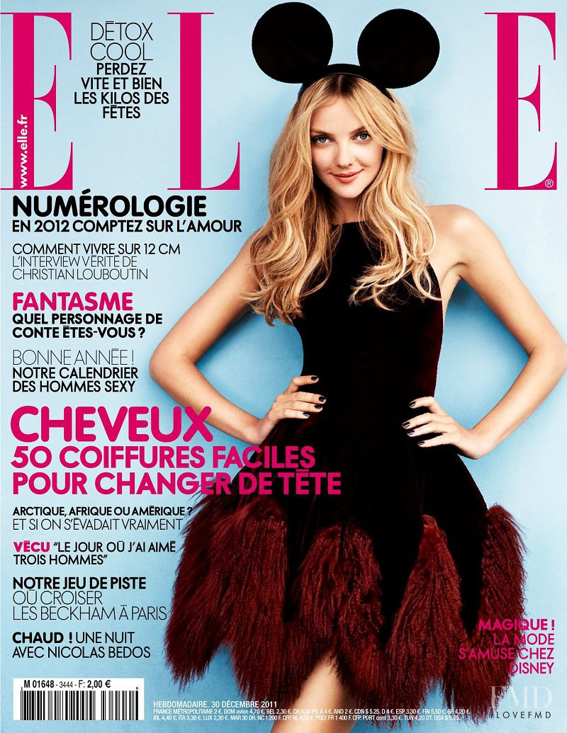 Heather Marks featured on the Elle France cover from January 2012