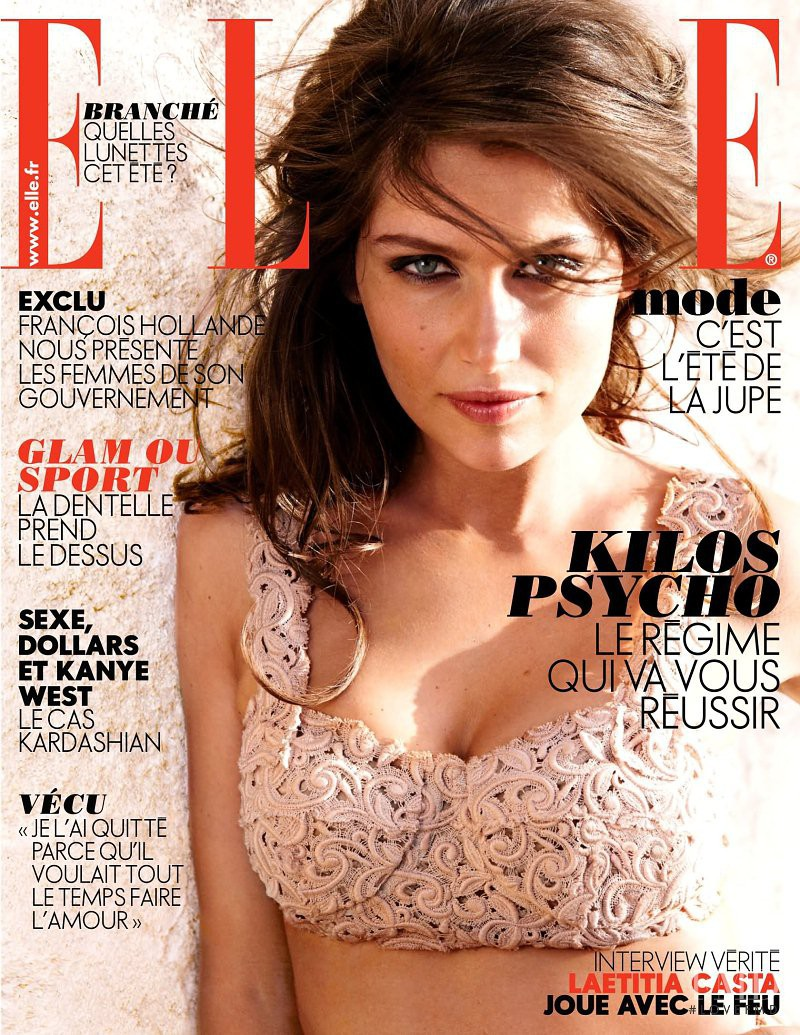 Laetitia Casta featured on the Elle France cover from May 2012