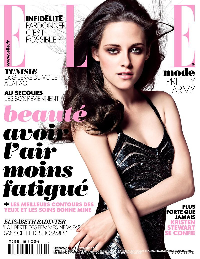 Kristen Stewart featured on the Elle France cover from November 2012