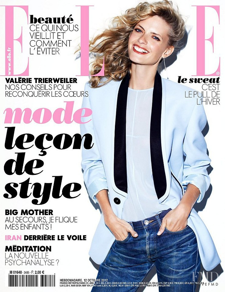 Julia Stegner featured on the Elle France cover from October 2012