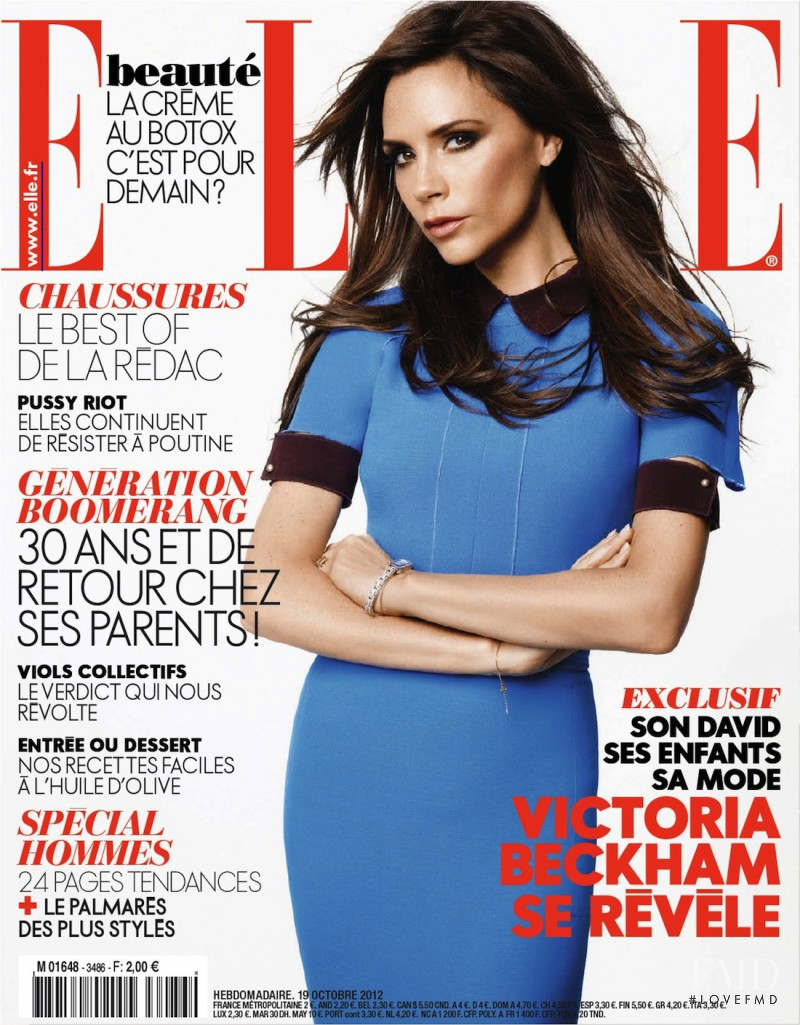 Victoria Beckham featured on the Elle France cover from October 2012
