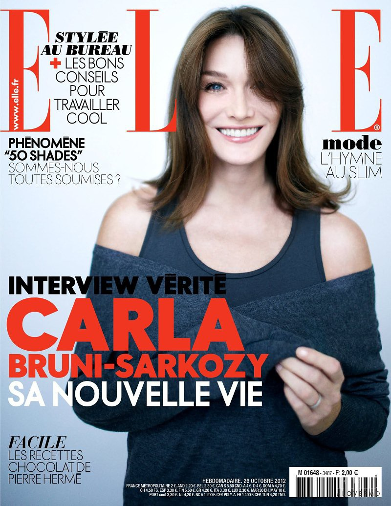 Carla Bruni featured on the Elle France cover from October 2012