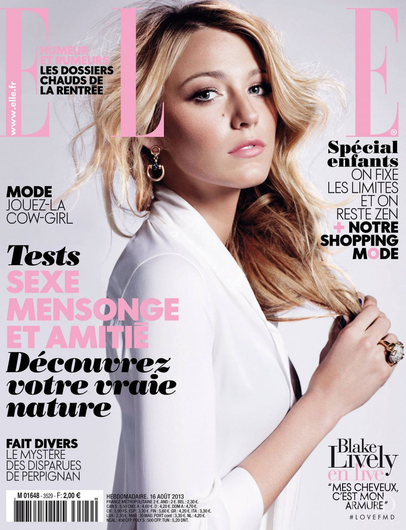 Blake Lively featured on the Elle France cover from August 2013