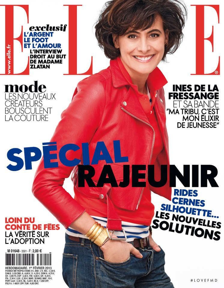 Ines de la Fressange featured on the Elle France cover from February 2013