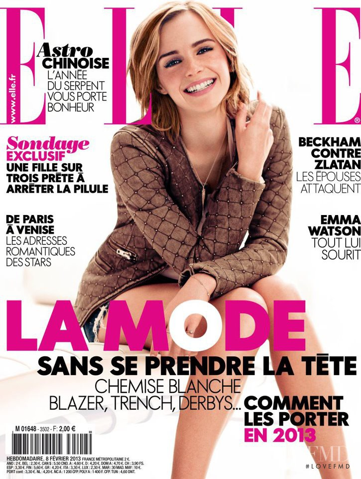 Emma Watson featured on the Elle France cover from February 2013