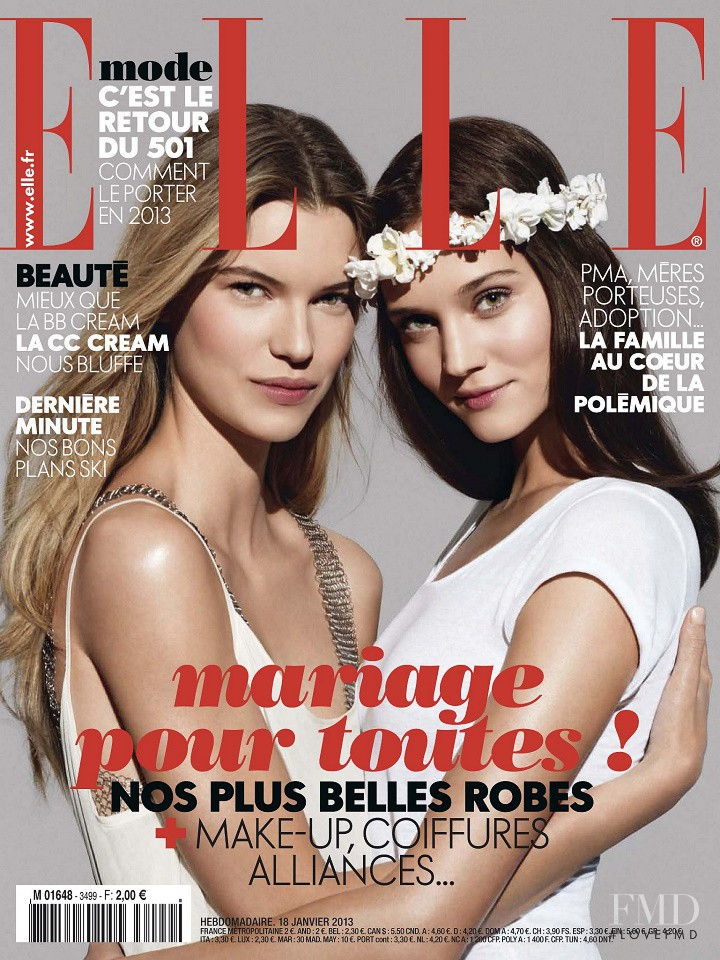 Victoria Tuaz, Johanna Szikszai featured on the Elle France cover from January 2013