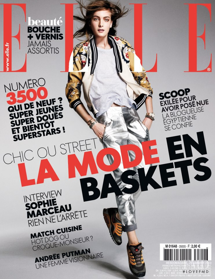Ophelie Rupp featured on the Elle France cover from January 2013